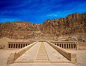 image of hatshepsut  - The temple of Hatshepsut near Luxor in Egypt - JPG