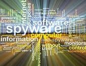 pic of spyware  - Background text pattern concept wordcloud illustration of spyware software glowing light - JPG