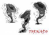 pic of nasty  - Nasty grey cartoon tornado - JPG