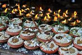 pic of pooja  - Nepalese religious ritual - JPG