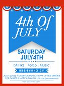 picture of celebrate  - American Independence Day celebration invitation card with stylish text 4th of July - JPG