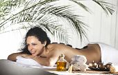 picture of black woman spa  - Spa Stone Massage - JPG
