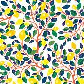 image of decoupage  - Lemons seamless pattern  - JPG