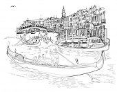 pic of gondolier  - Venice  - JPG