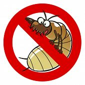 picture of anti  - No termites sign - JPG