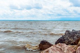 picture of novosibirsk  - View from the shore of the man - JPG