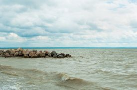 stock photo of novosibirsk  - View from the shore of the man - JPG