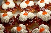 Small Cupcakes With Cream And Cherry #2 poster