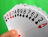 stock photo of playing card  - bridge playing  - JPG