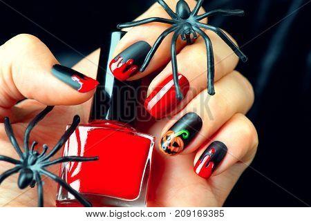 Halloween Manicure Design Ideas Halloween Nail Art Design Nail