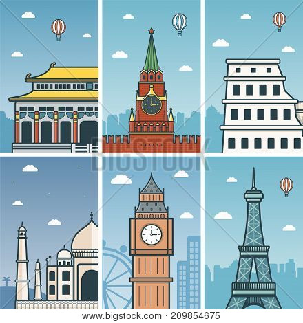 Poster: World Landmarks design