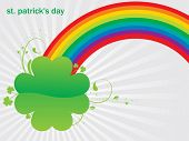 stock photo of end rainbow  - Beautiful Rainbow Ending in a Saint Patrick - JPG