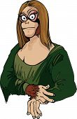pic of mona lisa  - Cartoon Mona Lisa as an ape - JPG