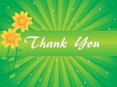 picture of thank you note  - floral background with thank you text - JPG
