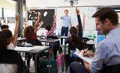 Trainee teacher learning how teach elementary students poster