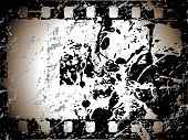 picture of crappie  - movie stripe with grunge elements - JPG