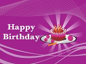 picture of happy birthday  - vector illustration - JPG