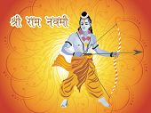 creative swirl background with lord rama, vector wallpaper