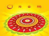 picture of pookolam  - abstract pattern background for onam - JPG