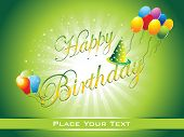 pic of happy birthday  - beautiful happy birthday background illustration - JPG