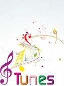 background with colorful musical notes