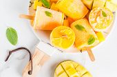 Popsicles, Frozen Mango Smoothie poster