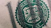 A Close-up Part Of A Hundred Dollars. 100 Dollars In Details, .counterfeiting With Dollar Notes poster