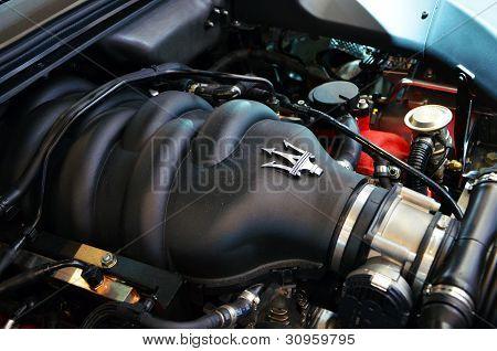 GENEVA MARCH 7Maserati engine on