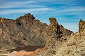 Famous View Of Pregnant Bear Mountain Near Volcano Teide On Tenerife. Beautiful Landscape In The Nat poster