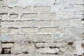 picture of arriere-plan  - A white roughly textured brick wall painted with white paint - JPG