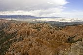 picture of fairyland  - pink hoodoos and scenic view of Fairyland Point at Bryce National Park Utah USA - JPG