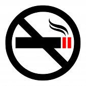 No Smoking Icon Isolated On White Background From Mall Collection. No Smoking Icon Trendy And Modern poster