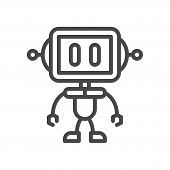 Robot Vector Icon On White Background. Robot Icon In Modern Design Style. Robot Vector Icon Popular  poster