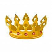 Isolated Object Of Monarchy And Gold Icon. Set Of Monarchy And Heraldic Stock Vector Illustration. poster