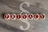 Cubes And Dice With Paragraph And Privacy poster