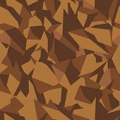 Stone Soil Texture In Brown Colors In Top View, Seamless Background. Pattern For The Fill Of Archite poster