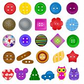 Sewing Button Vector Kids Fashion Design Clothing Accessory Collection Clothes Tailor Illustration S poster
