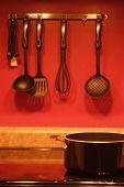 stock photo of kitchen utensils  - utensils in the kitchen - JPG
