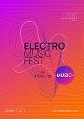 Trance Event. Minimal Discotheque Banner Template. Dynamic Gradient Shape And Line. Neon Trance Even poster