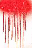 Abstract Dripping Paint Aerosol Art With Snow Effect Copy Space Place. Blood Flows. Abstact Blob. Sn poster