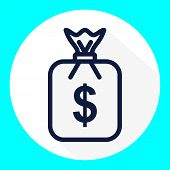 Money Bag Icon Vector In Modern Flat Style For Web, Graphic And Mobile Design. Money Bag Icon Vector poster