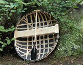 pic of coracle  - A Traditionally Made One Man Coracle Basket Boat - JPG