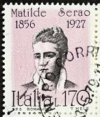 ITALY - CIRCA 1978: a stamp printed in Italy shows  portrait of Matilde Serao (1856 - 1927), Greek-b