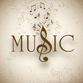 stock photo of compose  - Musical background with musical notes - JPG
