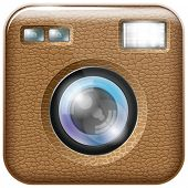 Vector camera lens app icon with blends and transparent. All layers well organized and easy to edit