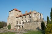 picture of tatas  - Old castle in Tata Hungary clear blue sky - JPG