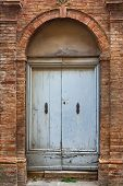 Old Elegant Door Tuscan Italy