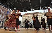 ZAGREB,CROATIA - JULY 19:Members of folk groups Marko Marojica from Zupa Dubrovacka in Croatian folk