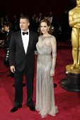 LOS ANGELES - MAR 2:: Brad Pitt, Angelina Jolie  at the 86th Annual Academy Awards at Hollywood & Hi