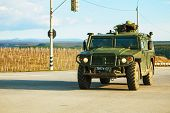 Russian Armoured Truck In Crimea, Ukraine